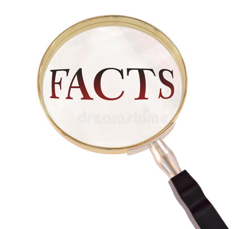 Tatsachen vergrößern lizenzfreie abbildung