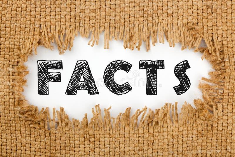 Tatsachen-Wort-Konzept stockbilder