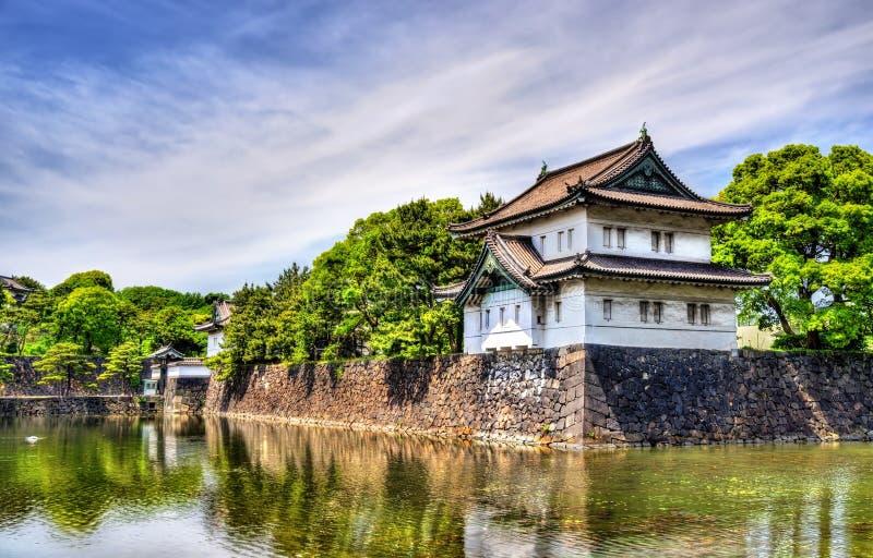 Tatsumi Yagura, башня обороны на имперском дворце стоковая фотография rf