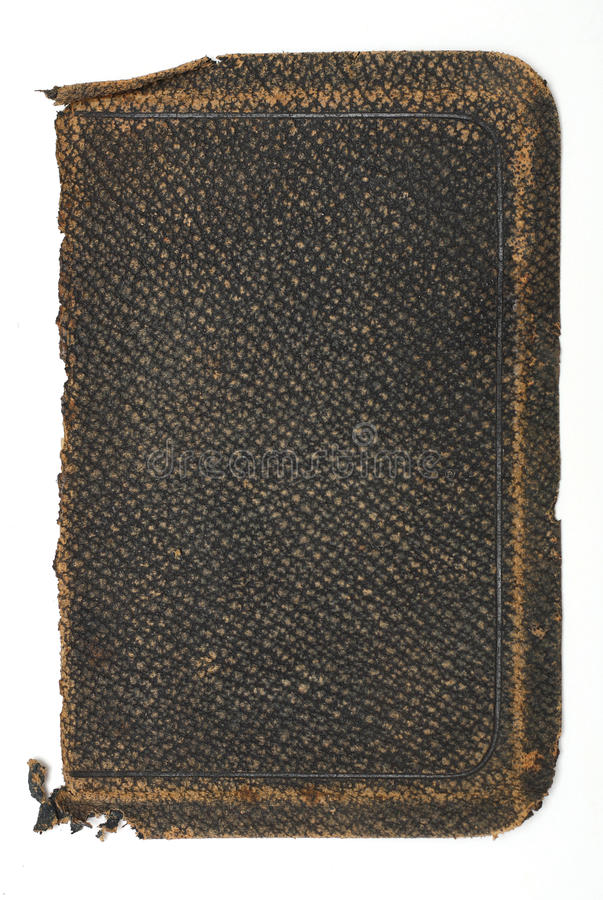 Tattered, Old Rough Leather Book Cover royalty free stock images