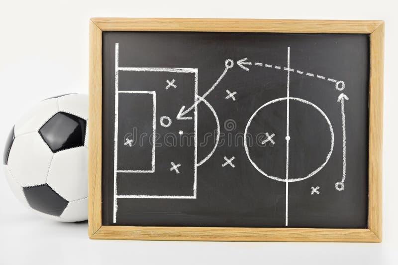 Tattiche del gioco di calcio fotografie stock