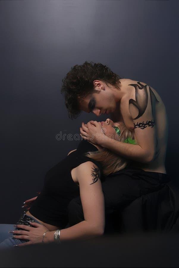 Tatto Couple stock photography