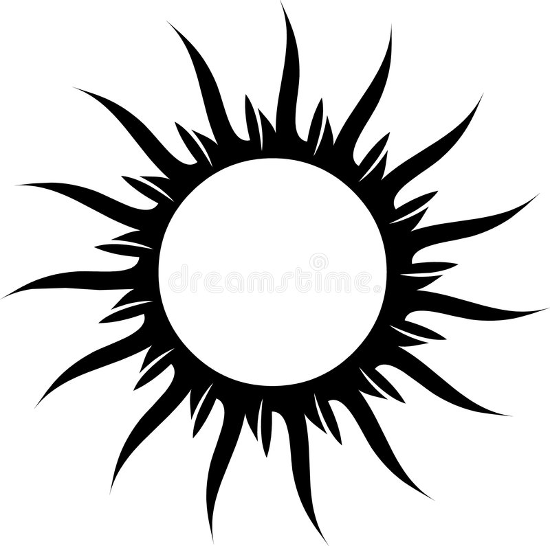 tattoo солнца иллюстрация штока