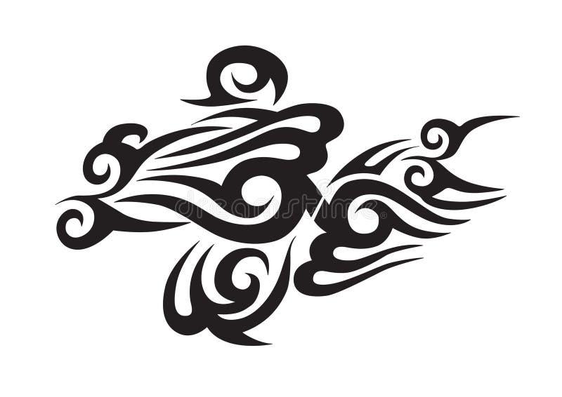 tattoo соплеменный иллюстрация штока