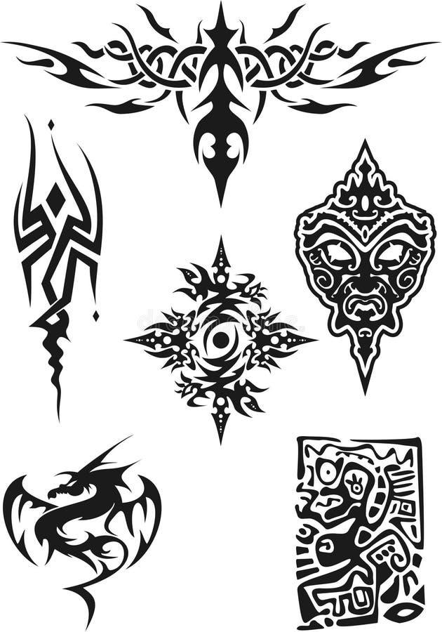 Download Tattoo stock illustration. Illustration of fantasy, contour - 1657901