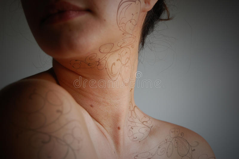 Download Tattoo Beauty stock illustration. Image of painted, makeup - 15812789