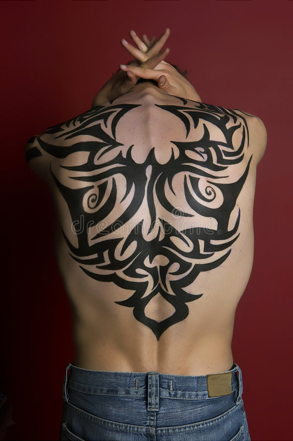 Tattoo Boy stock photo