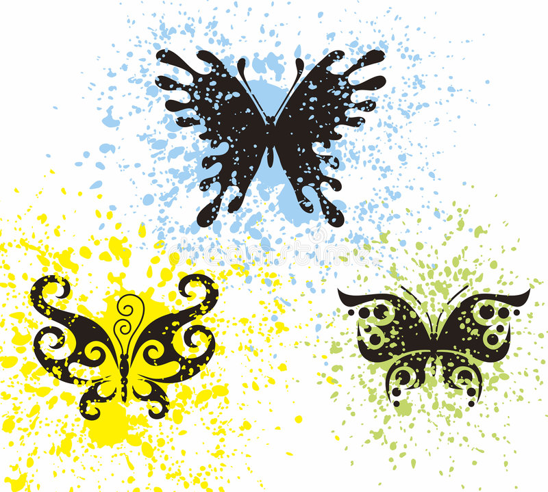 Free Tattoo Butterflies Royalty Free Stock Image - 2431066