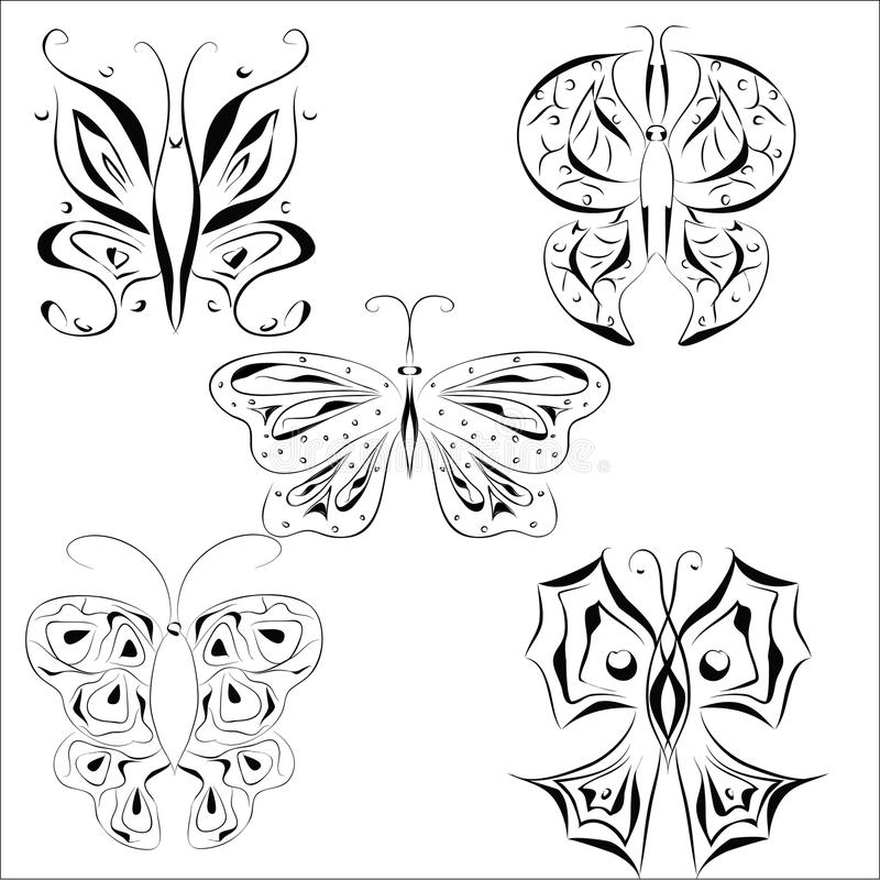 Tattoo butterfly royalty free illustration