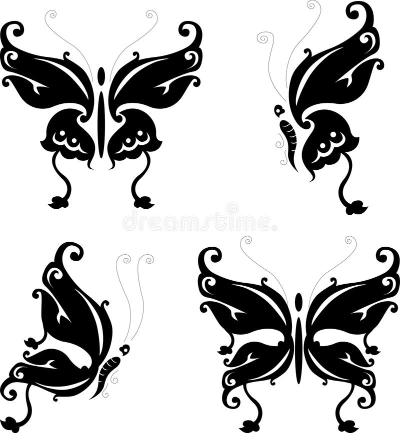 Download Tattoo Butterfly For You Design Stock Illustration - Illustration of tattoo, leaf: 30892421