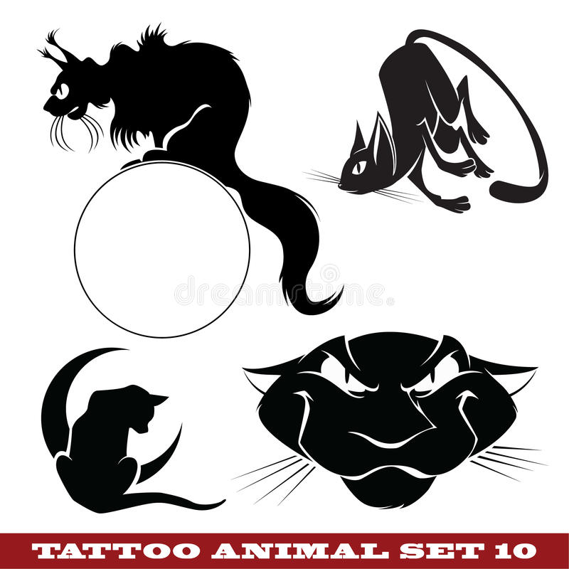 Download Tattoo cats stock vector. Image of style, print, fire - 19964431