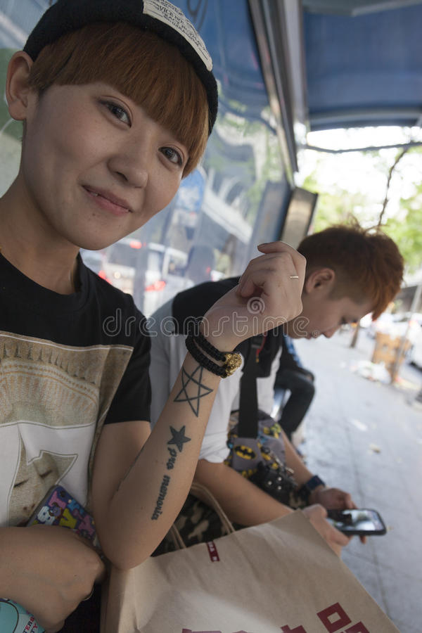 Tattoo culture in Asia stock images