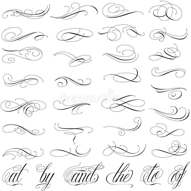 Tattoo curls stock illustration