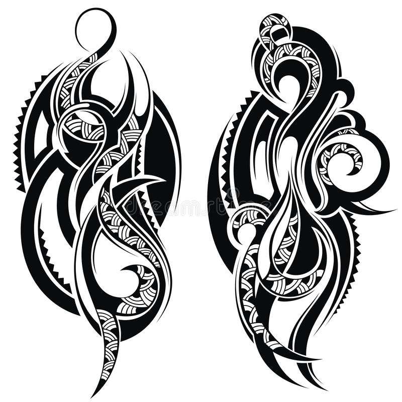 tattoo design elements stock vector illustration of design 49338758. Black Bedroom Furniture Sets. Home Design Ideas