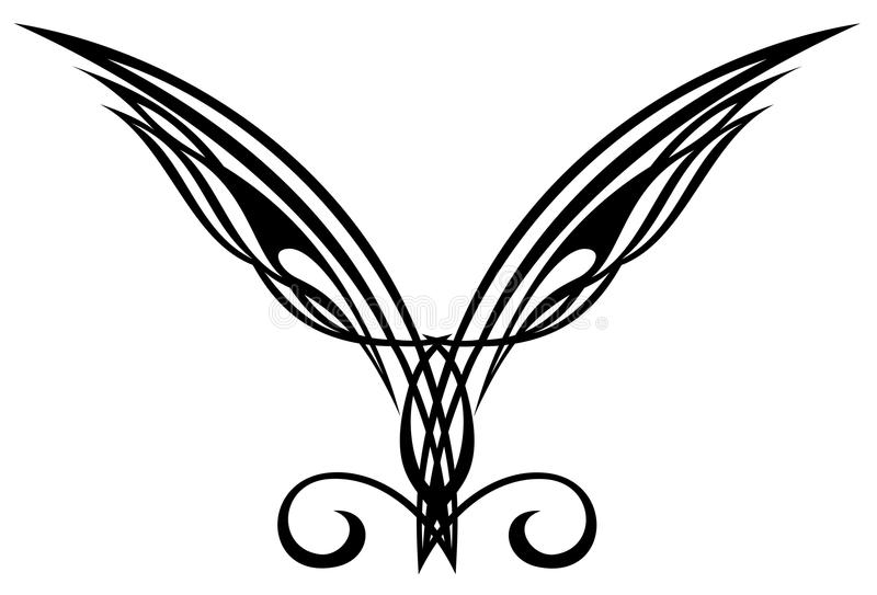 Download Tattoo Design Elements. Wings. Stock Vector - Image: 14932693