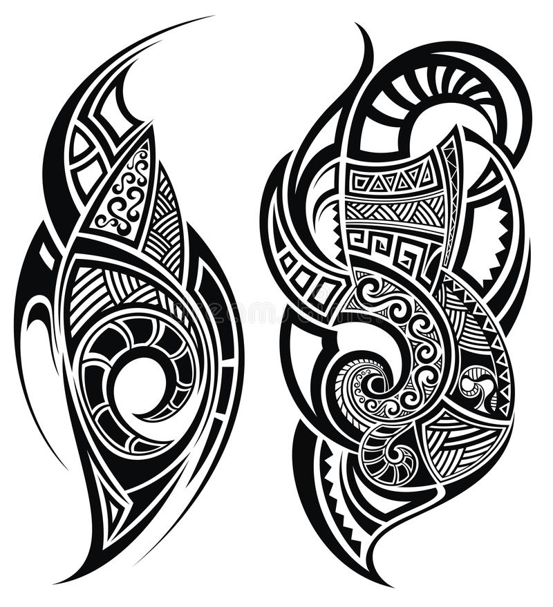 Tattoo Design Stock Vector. Illustration Of Shape, Curl