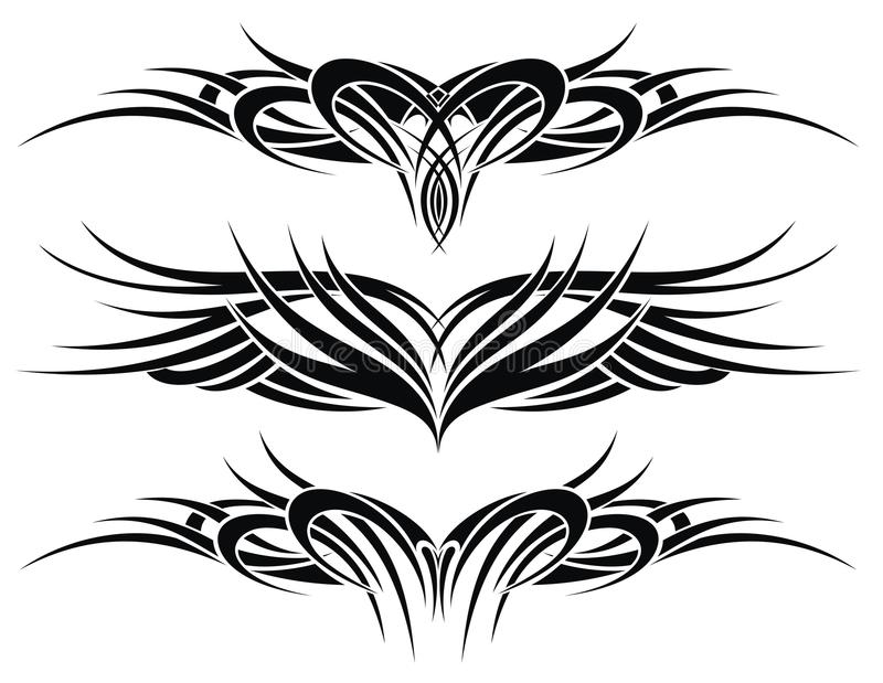 Tattoo elements royalty free stock images