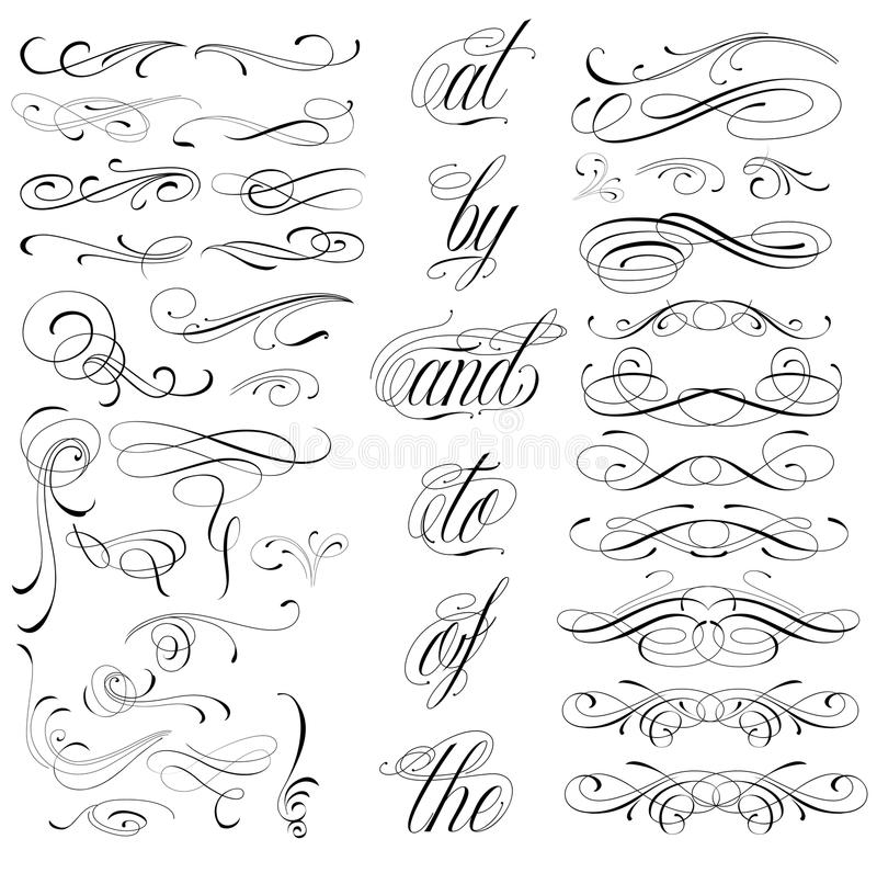 Tattoo elements royalty free illustration