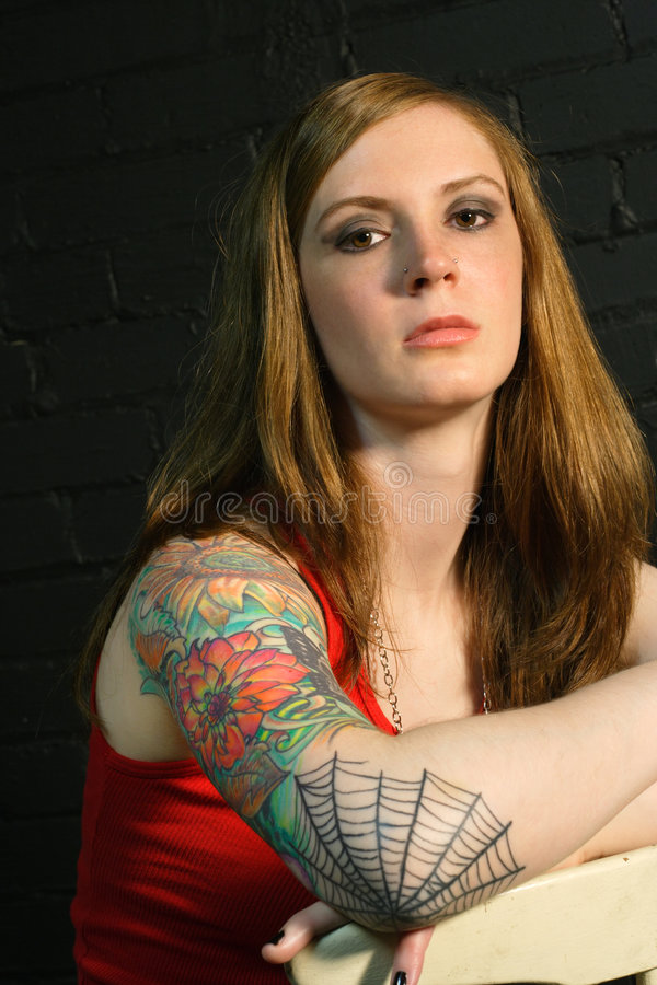 Tattoo Girl 2 stock images
