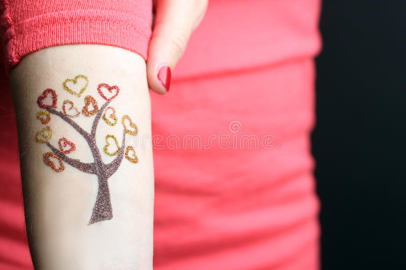 Tattoo of glitter royalty free stock photos