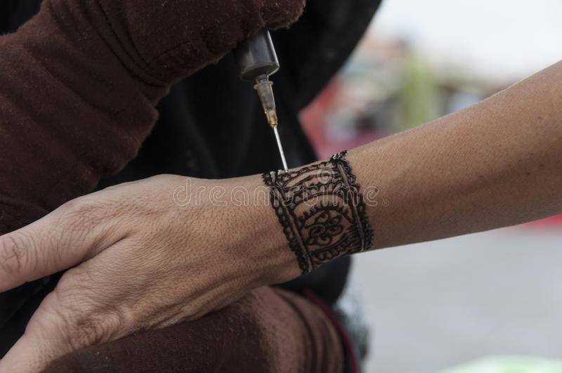 Download Tattoo of Henna stock image. Image of people, travel - 83132033