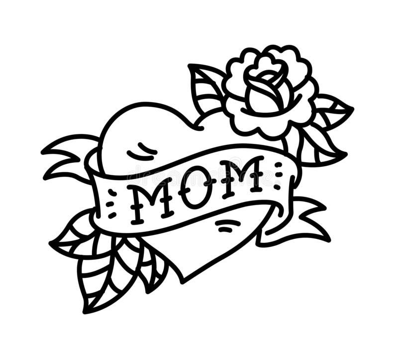 Old School Mom Tattoo Stock Illustrations 133 Old School Mom Tattoo Stock Illustrations Vectors Clipart Dreamstime