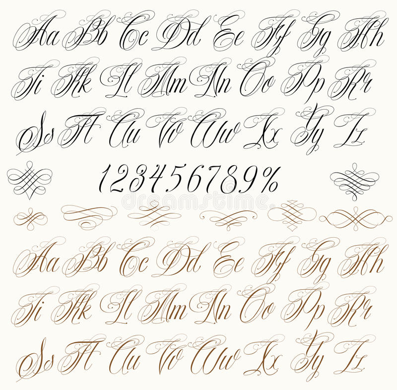 Download Tattoo Letters Stock Vector Illustration Of Handwriting