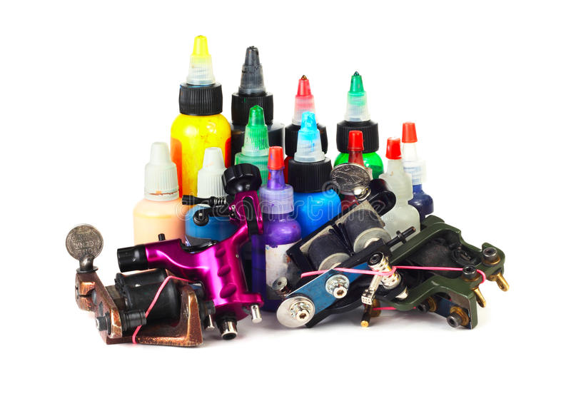 Tattoo machine with ink royalty free stock image