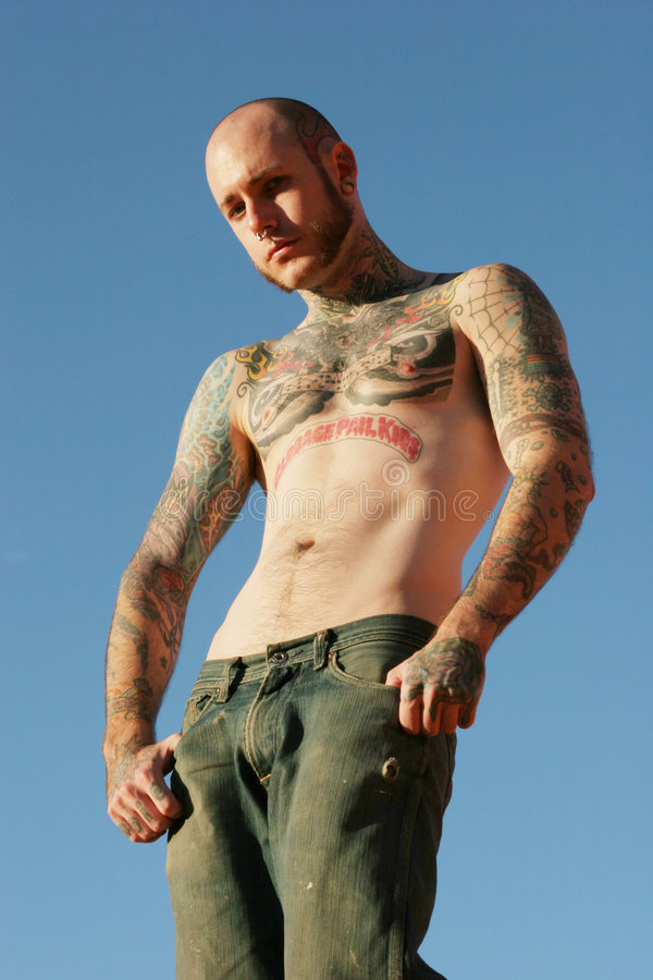 Tattoo man royalty free stock photography