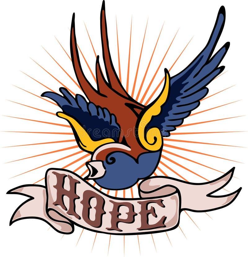 Download Tattoo Robin & hope stock vector. Image of robin, sailor - 11892718