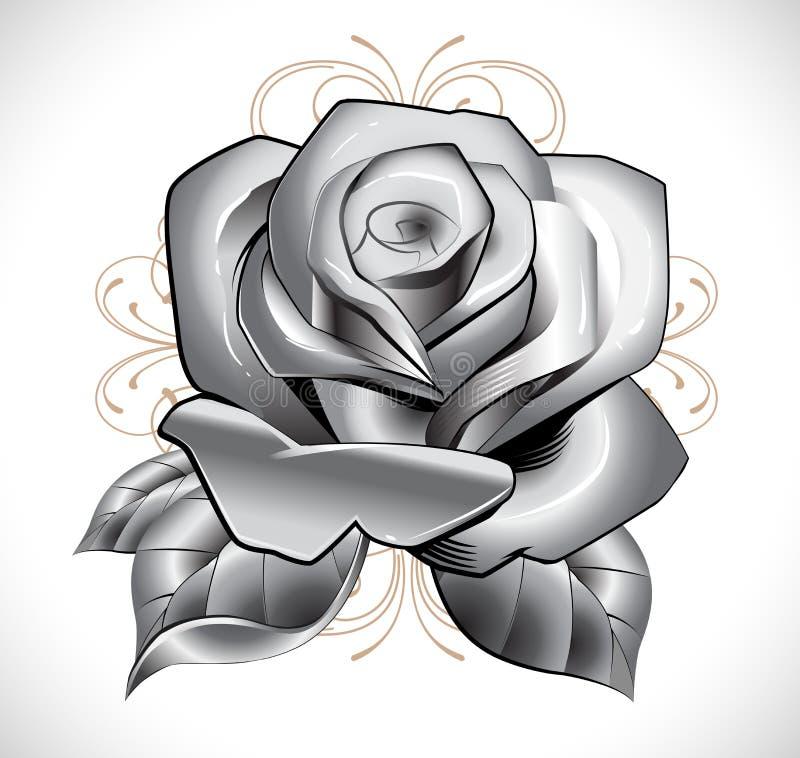 Tattoo Rose royalty free illustration