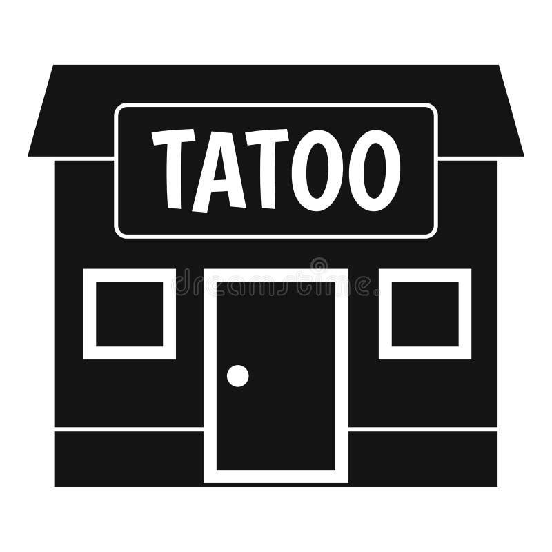 Tattoo salon building icon simple. Tattoo salon building icon in simple style isolated vector illustration vector illustration
