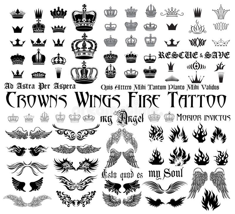 Free Tattoo Set Stock Images - 48769344
