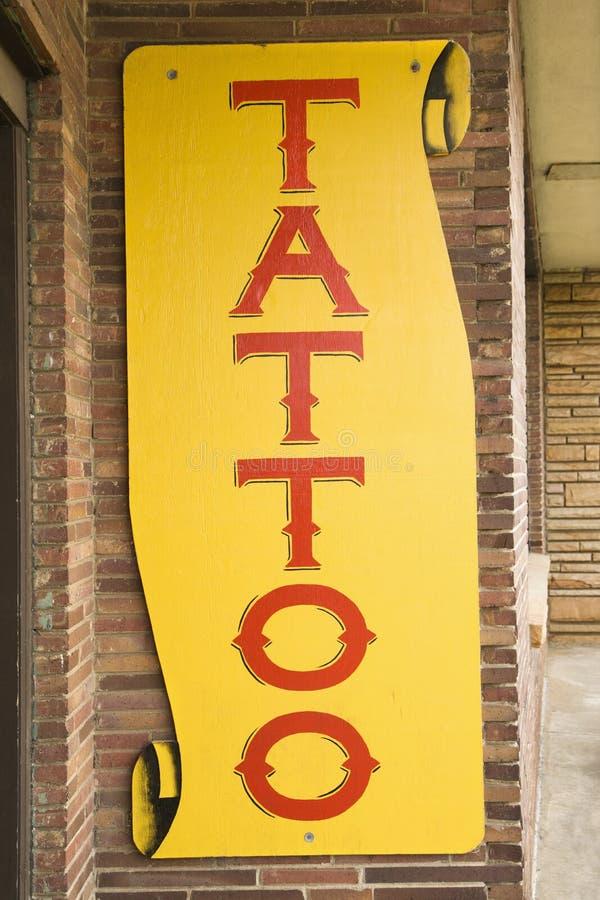 Tattoo sign. stock photos