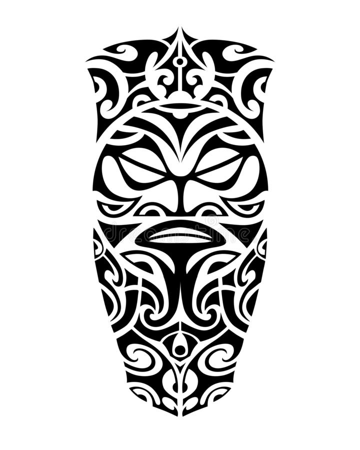 Tattoo sketch maori style for leg or shoulder vector illustration