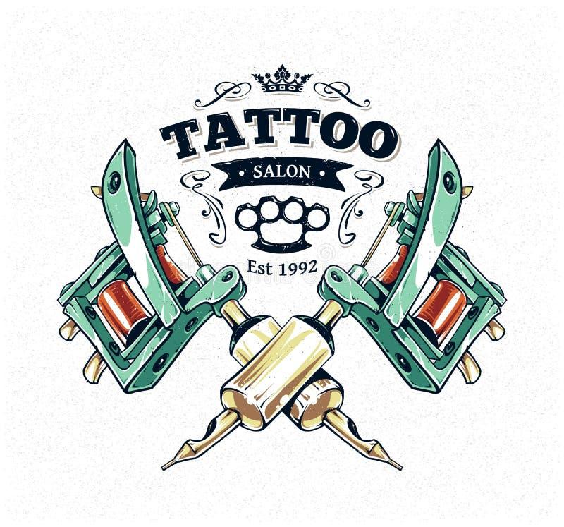 Tattoo Studio Poster royalty free illustration