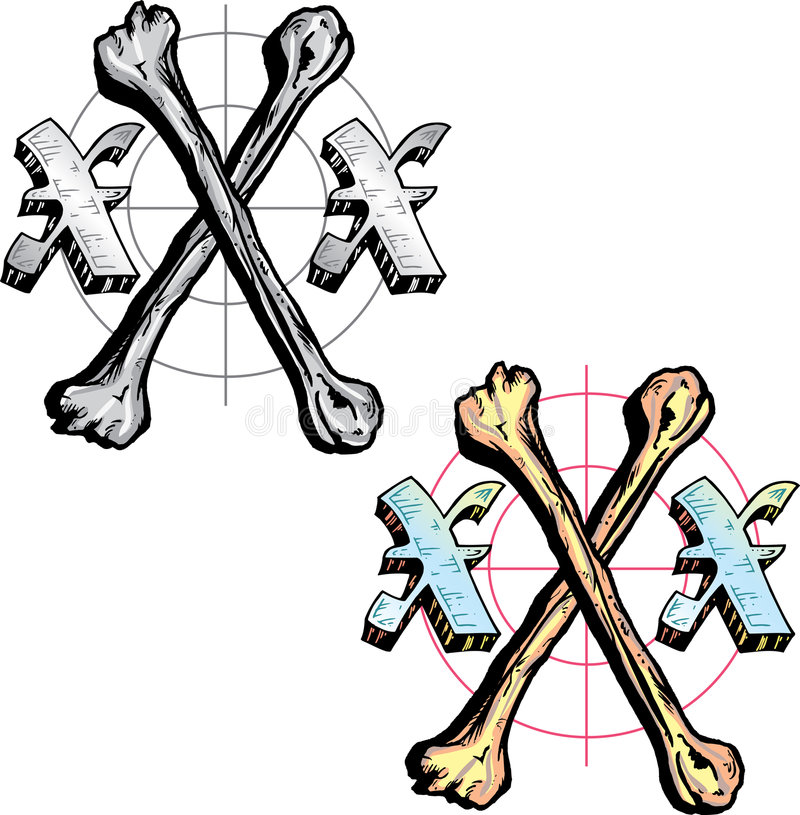 Tattoo style letter X stock photo