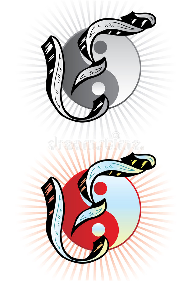 Tattoo style letter Y stock image