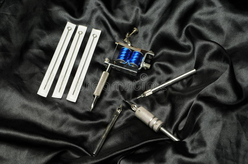 Tattoo supplies stock photography