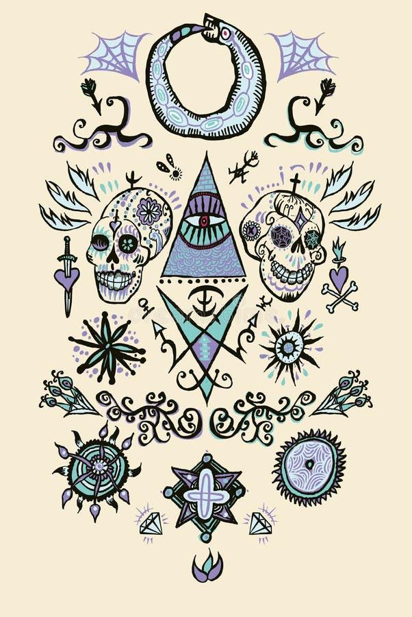 Tattoo. Vector Royalty Free Stock Image