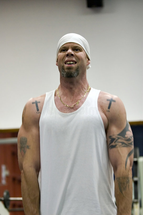 Download Tattooed man training stock image. Image of tattoos, tattooed - 990701