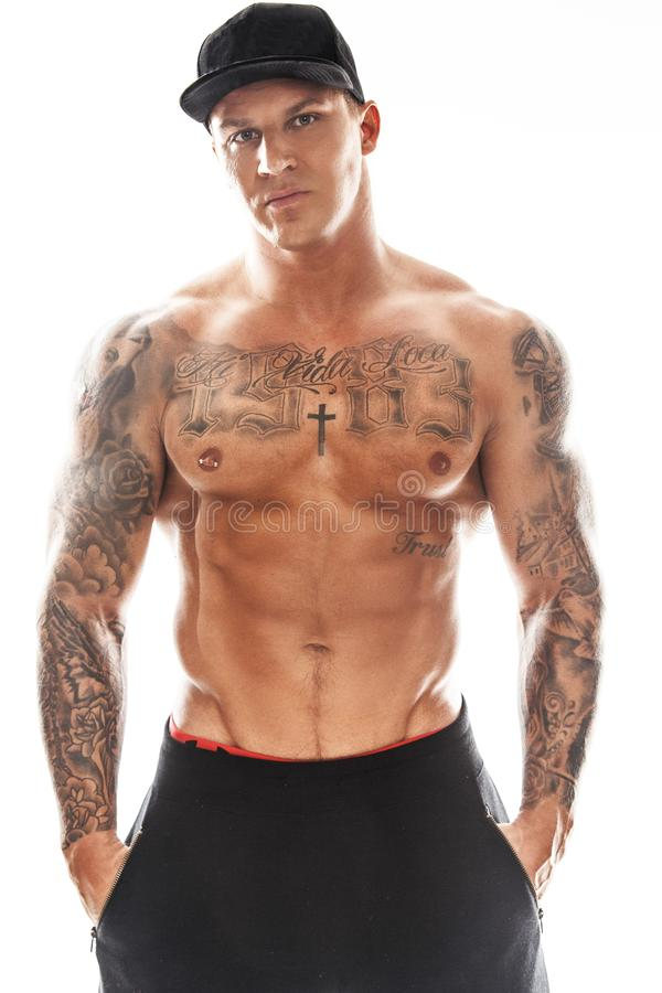 Free Tattooed Muscular Guy Royalty Free Stock Photography - 108258547