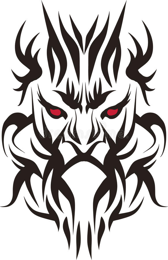 Download Tattooing face stock vector. Image of calligraphic, artistic - 24567893