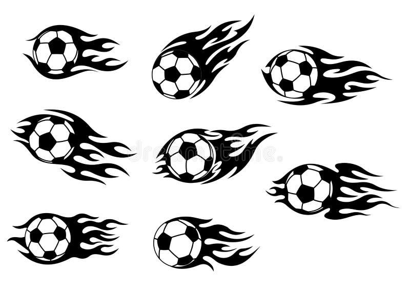Tattoos футбола и футбола бесплатная иллюстрация
