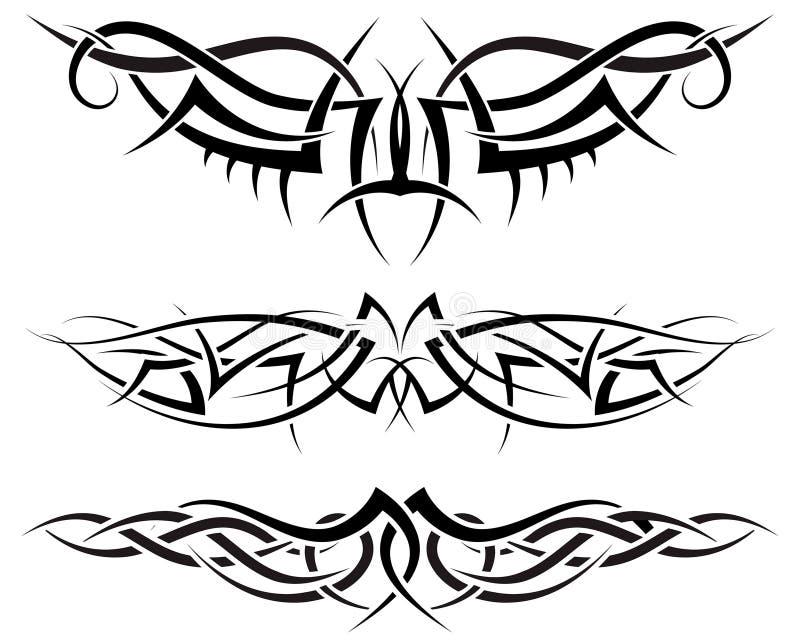 Tattoos set royalty free stock photo