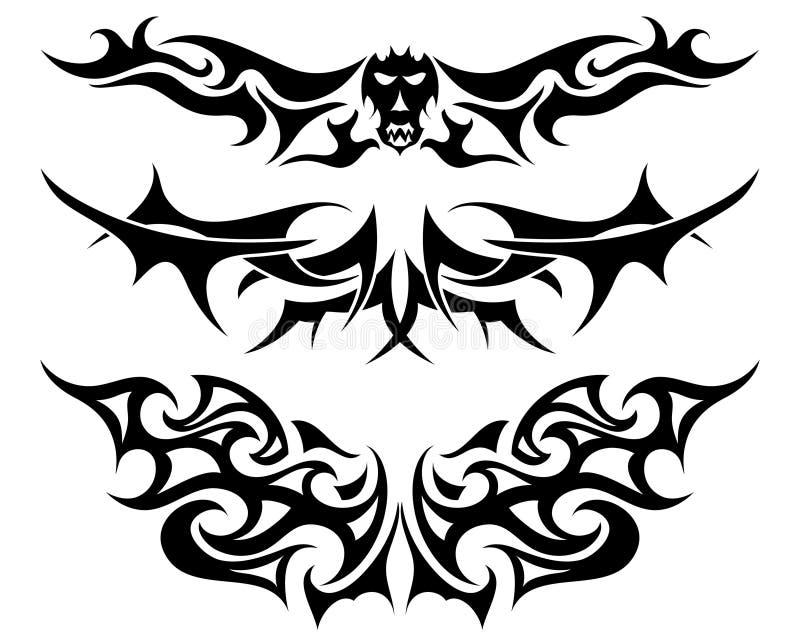 Horizontal Line Tattoo: Tattoos Set Stock Photo