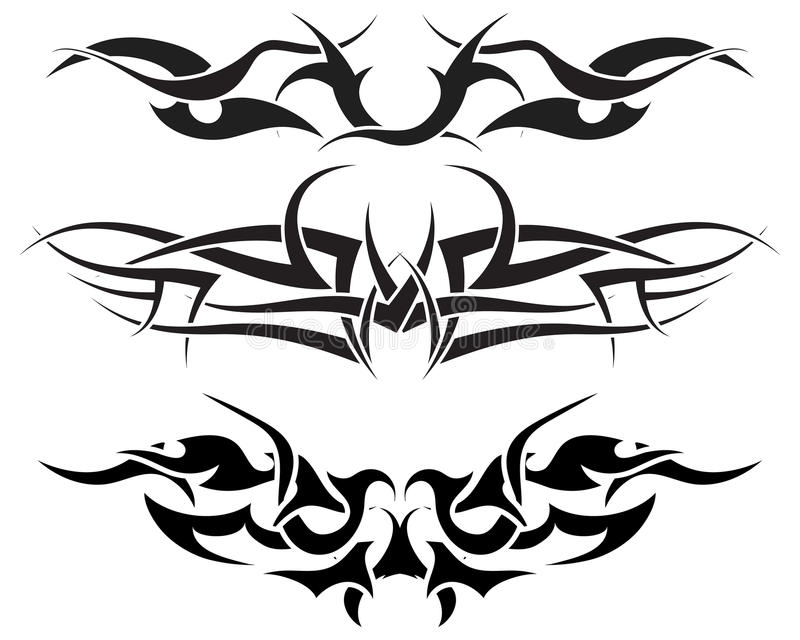 Tattoos set vector illustration