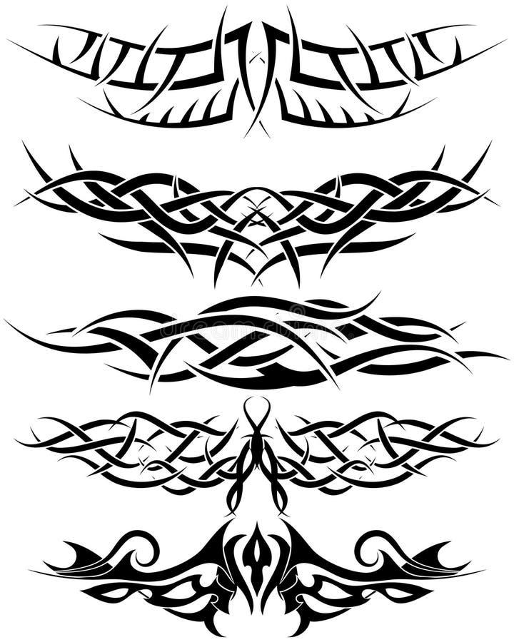 Tattoos set vector illustration