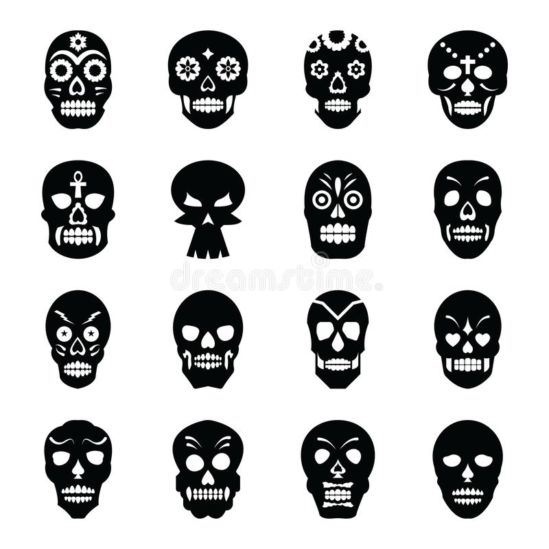 Tattoos Solid Icons set stock illustration