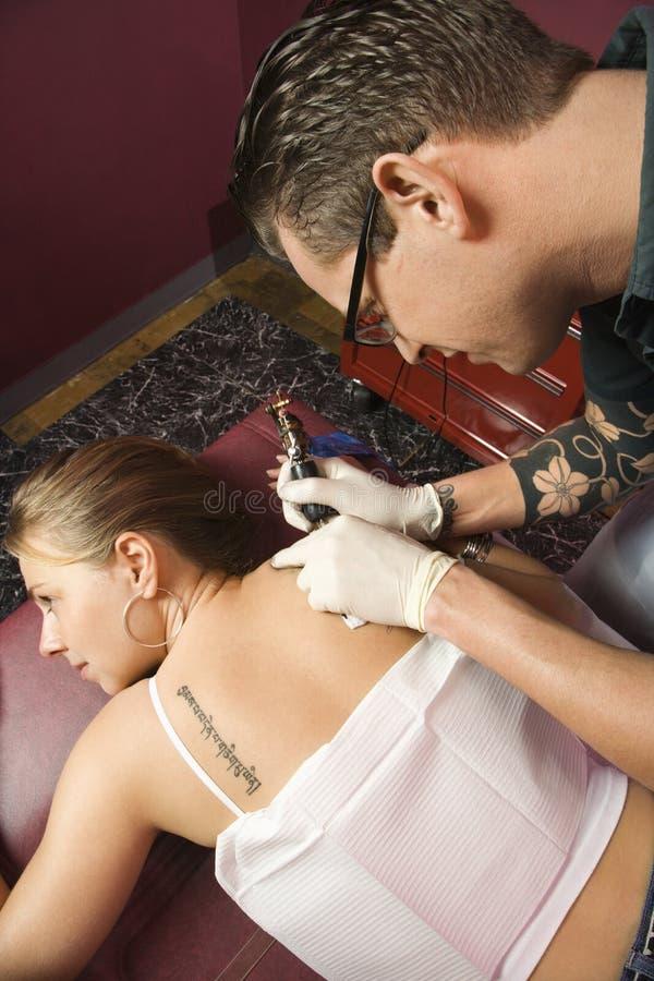 tatuaż kobiety fotografia royalty free
